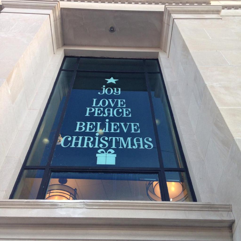 Christmas Tree Words Wall Decal
