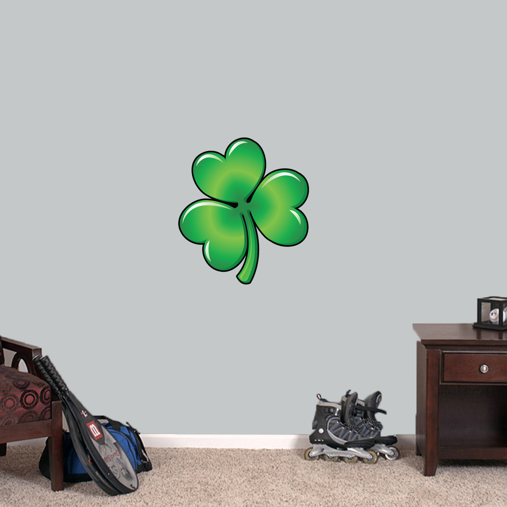 "Clover Printed Wall Decal 16"" wide x 18"" tall Sample Image"
