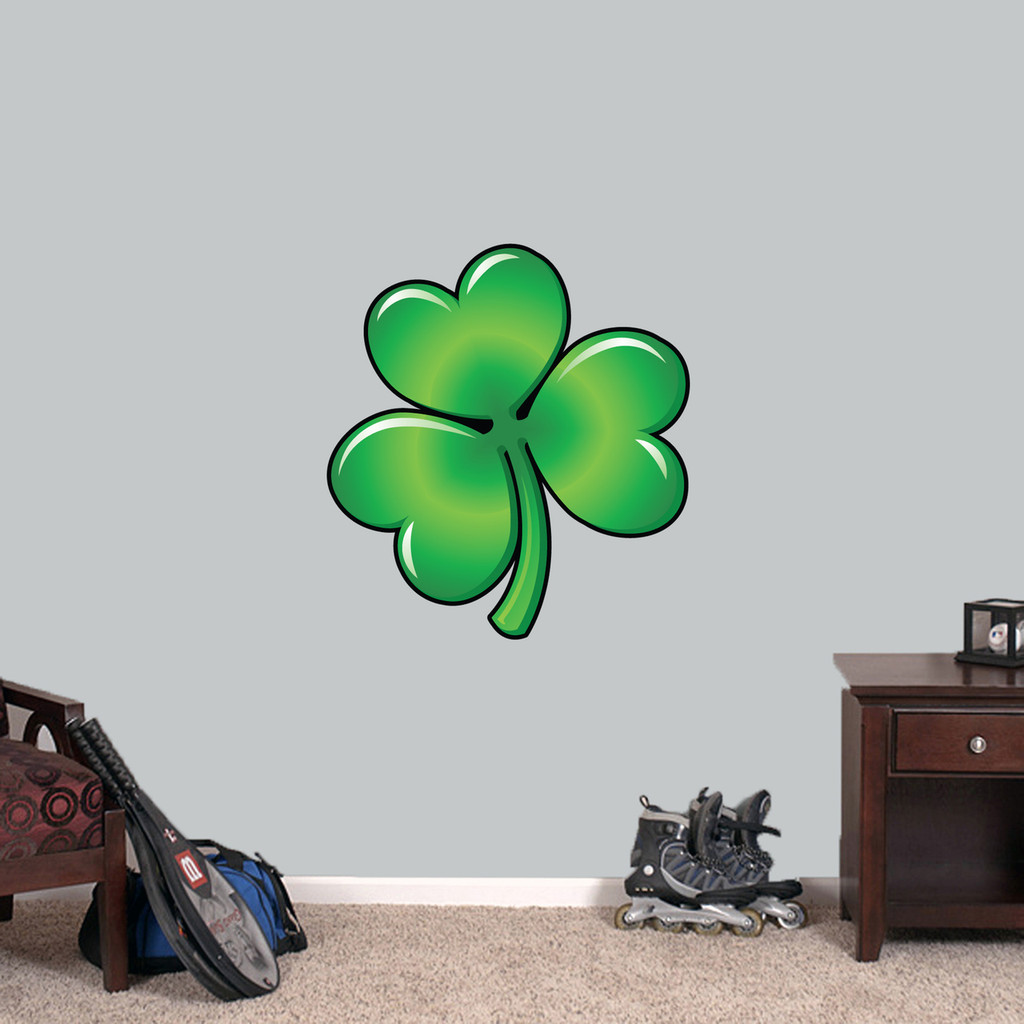 "Clover Printed Wall Decal 22"" wide x 24"" tall Sample Image"