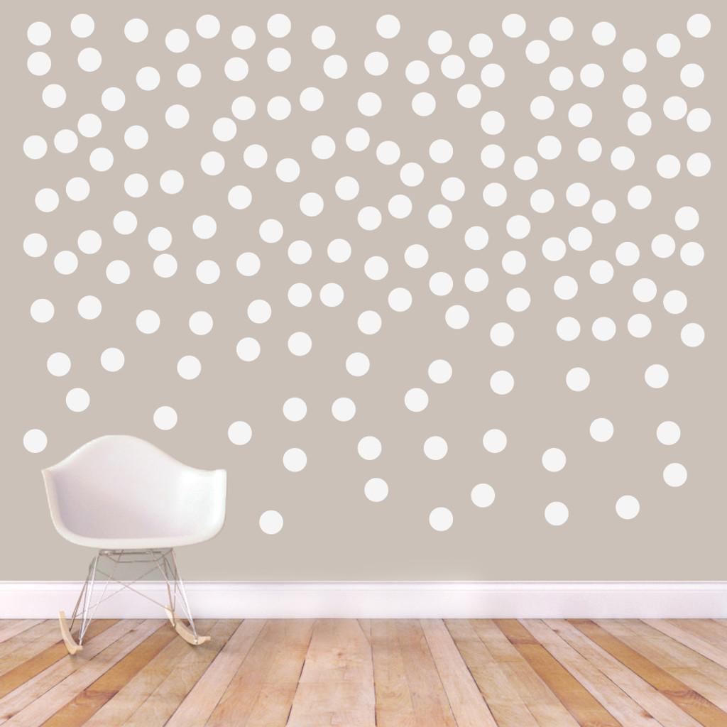 """Confetti Dots Wall Decals 3"""" Confetti Dots Sample Image"""