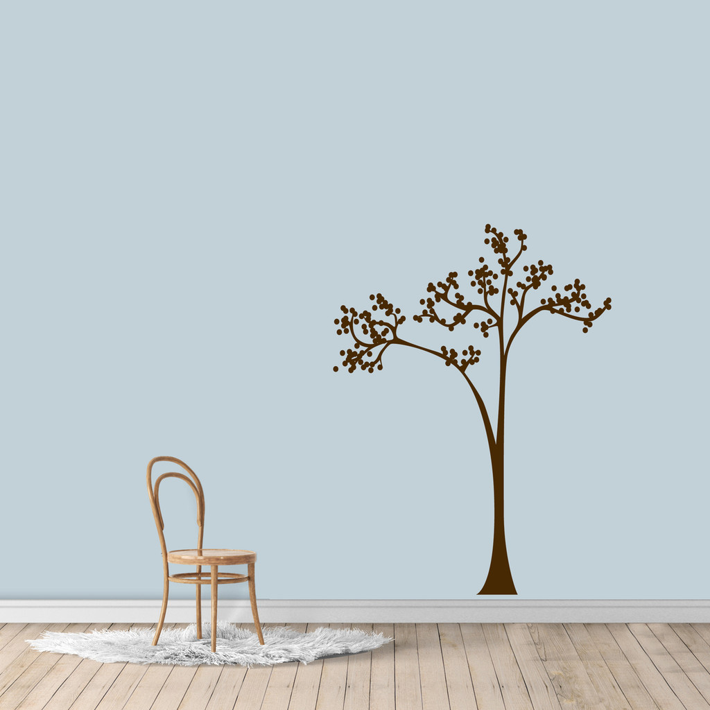 "Dot Tree Wall Decal 36"" wide x 48"" tall Sample Image"
