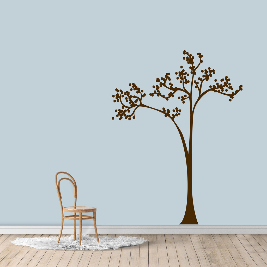 "Dot Tree Wall Decal 45"" wide x 60"" tall Sample Image"