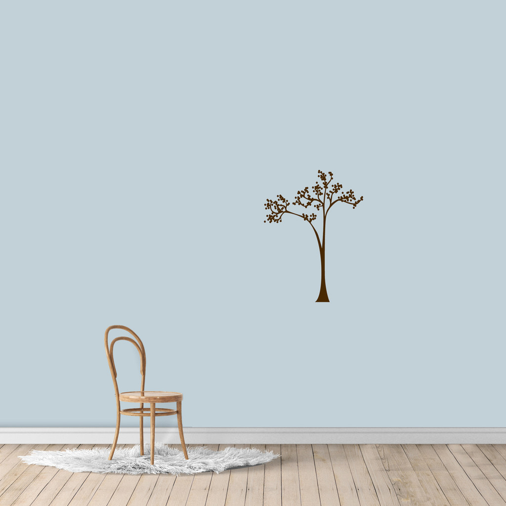 "Dot Tree Wall Decal 18"" wide x 24"" tall Sample Image"