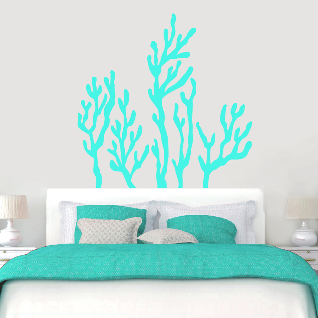 "Coral Reef Wall Decals Wall 60"" wide x 60"" tall Sample Image"