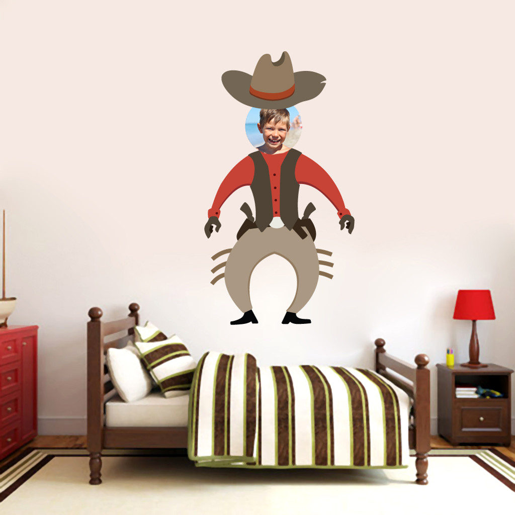 Custom Cowboy Photo Wall Decals and Stickers & Custom Cowboy Photo Wall Decals Home Decor Stickers