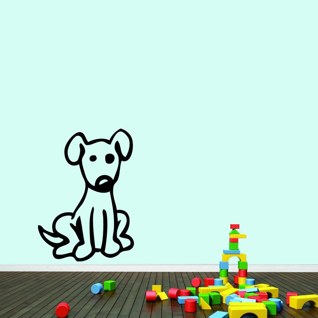 "Cartoon Dog Wall Decals 26"" wide x 36"" tall Sample Image"