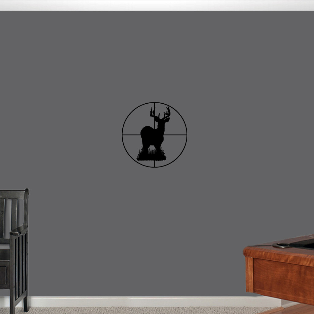 """Deer Through Scope Wall Decals 22"""" wide x 22"""" tall Sample Image"""