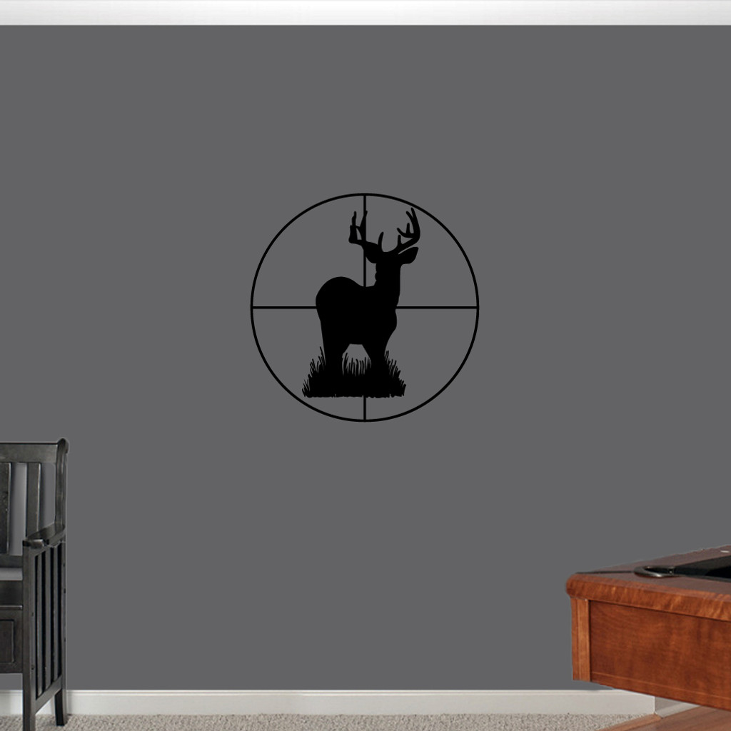 """Deer Through Scope Wall Decals 18"""" wide x 18"""" tall Sample Image"""