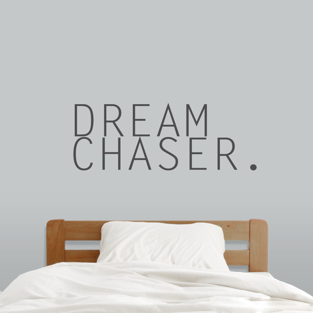"Dream Chaser Wall Decals 38"" wide x 14"" tall Sample Image"