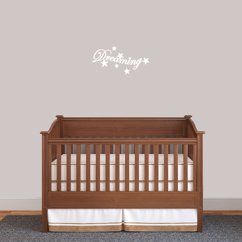 """Dreaming Wall Decal 18"""" wide x 9"""" tall Sample Image"""