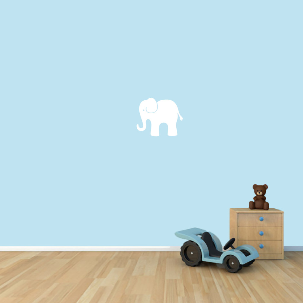 "Elephant Wall Decals 12"" wide x 10"" tall Sample Image"