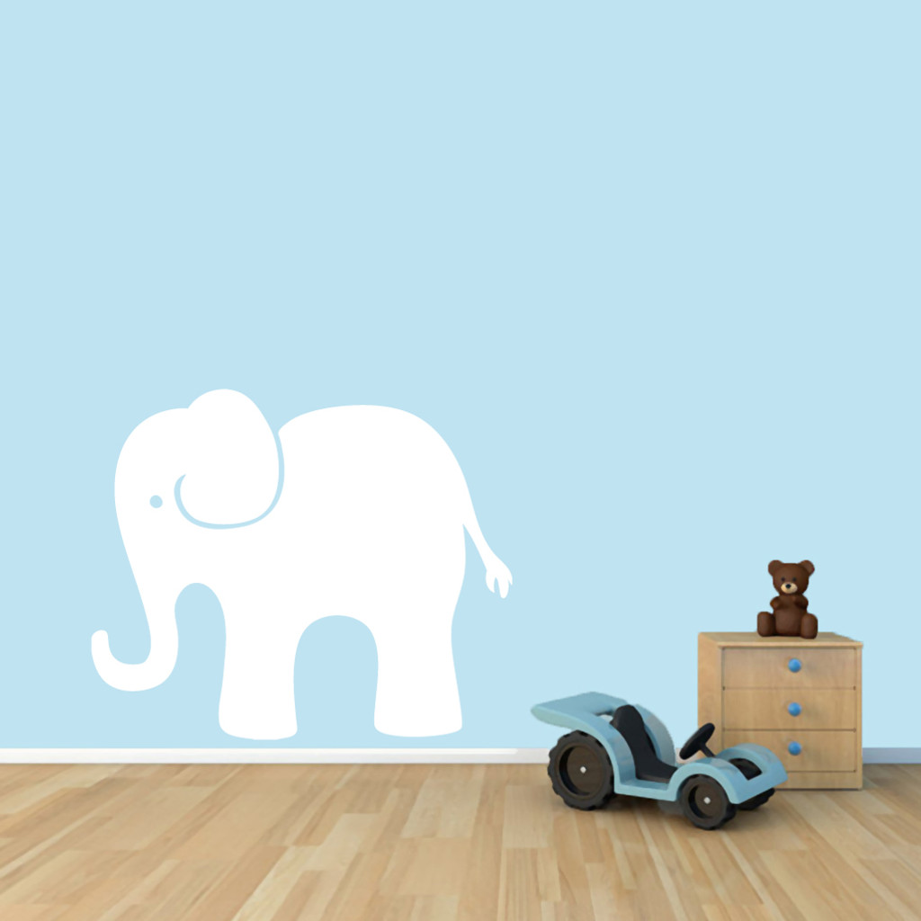 "Elephant Wall Decals 36"" wide x 30"" tall Sample Image"