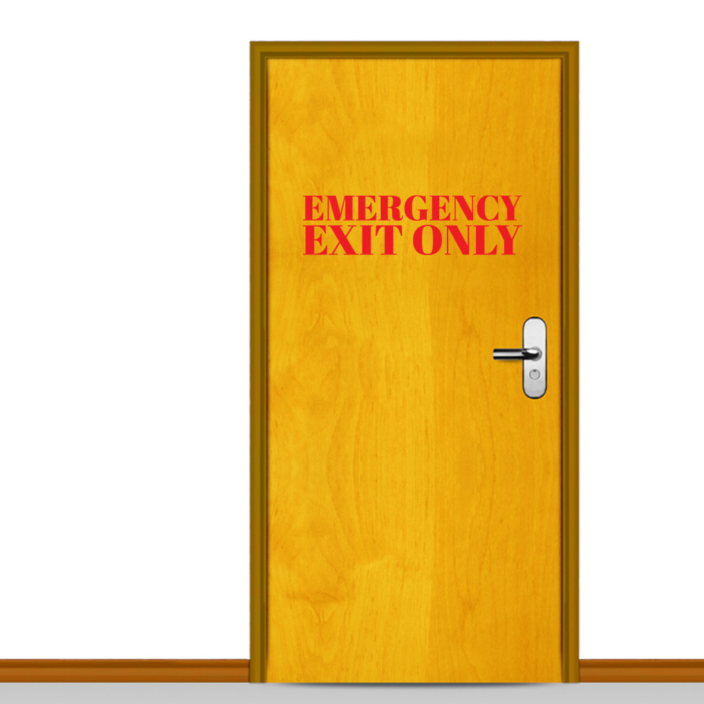 Emergency Exit Only Wall Decals Wall Decor Stickers