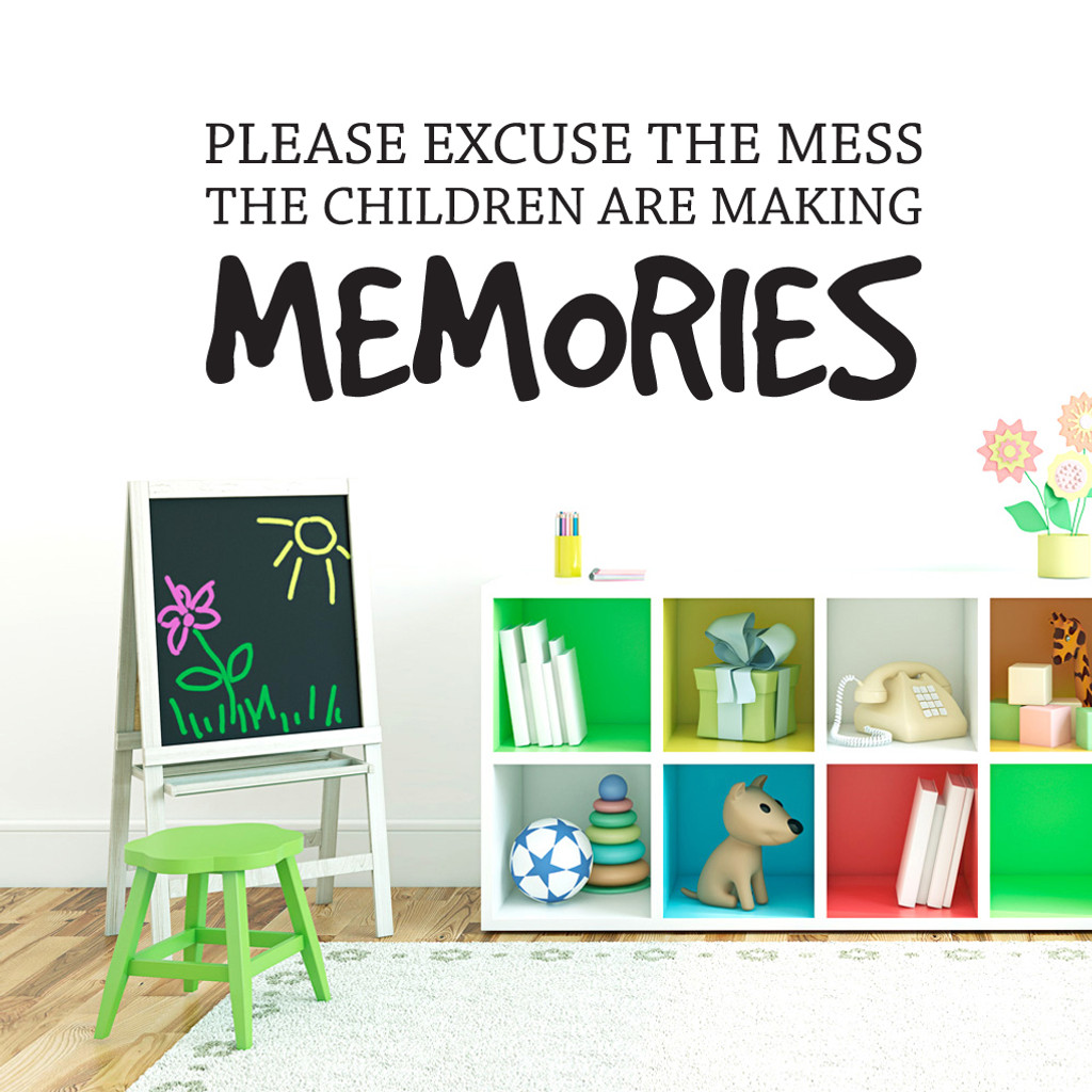 "Children Making Memories Wall Decals 60"" wide x 22"" tall Sample Image"