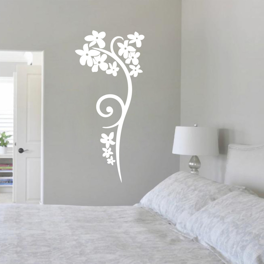 Orchid Stem Flourish Wall Decals And Stickers