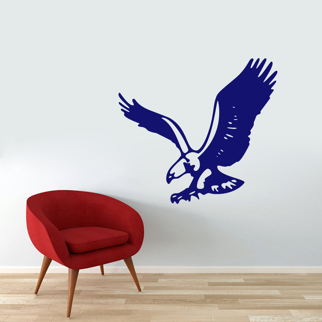 """Flying Eagle Wall Decals 36"""" wide x 33"""" tall Sample Image"""