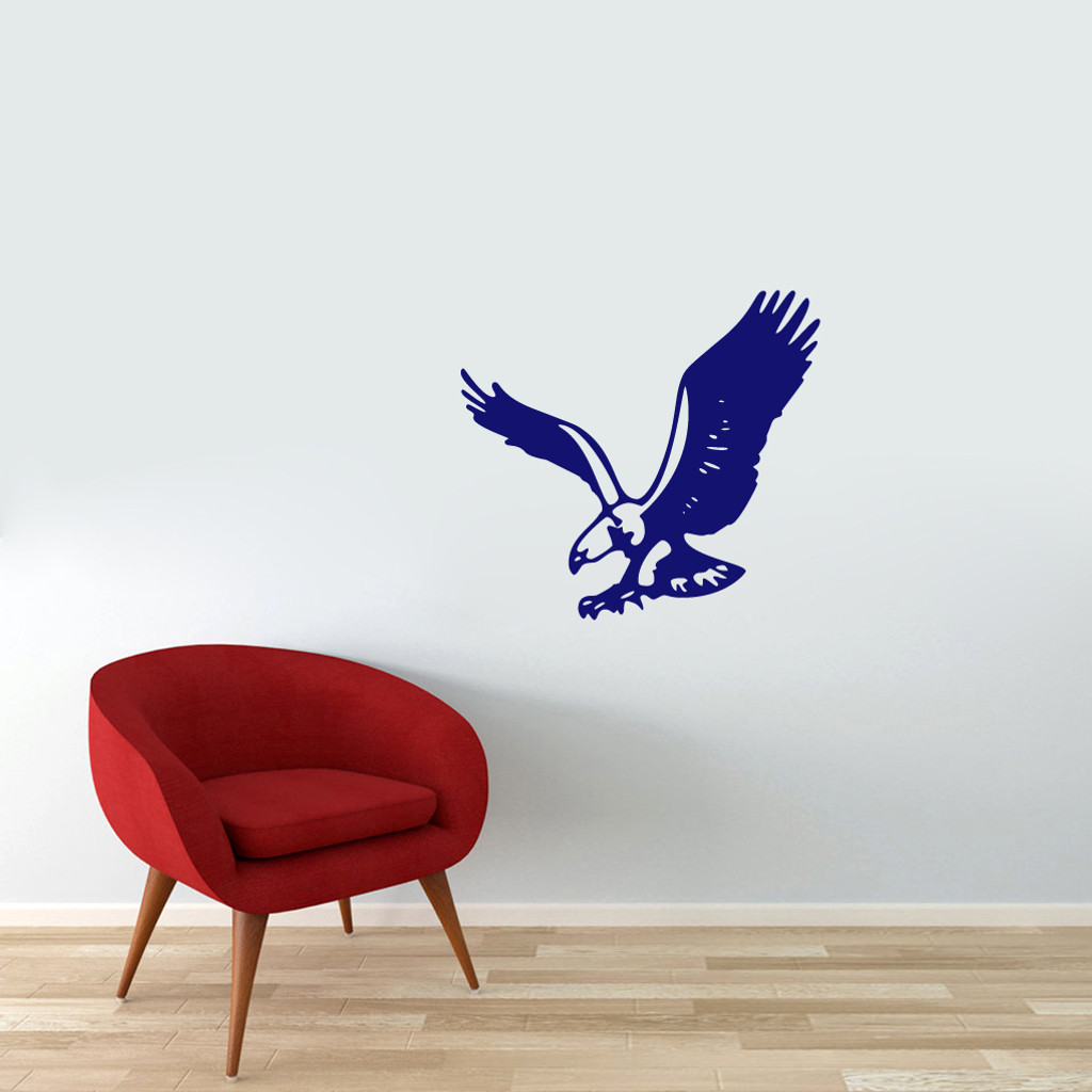 """Flying Eagle Wall Decals 24"""" wide x 22"""" tall Sample Image"""