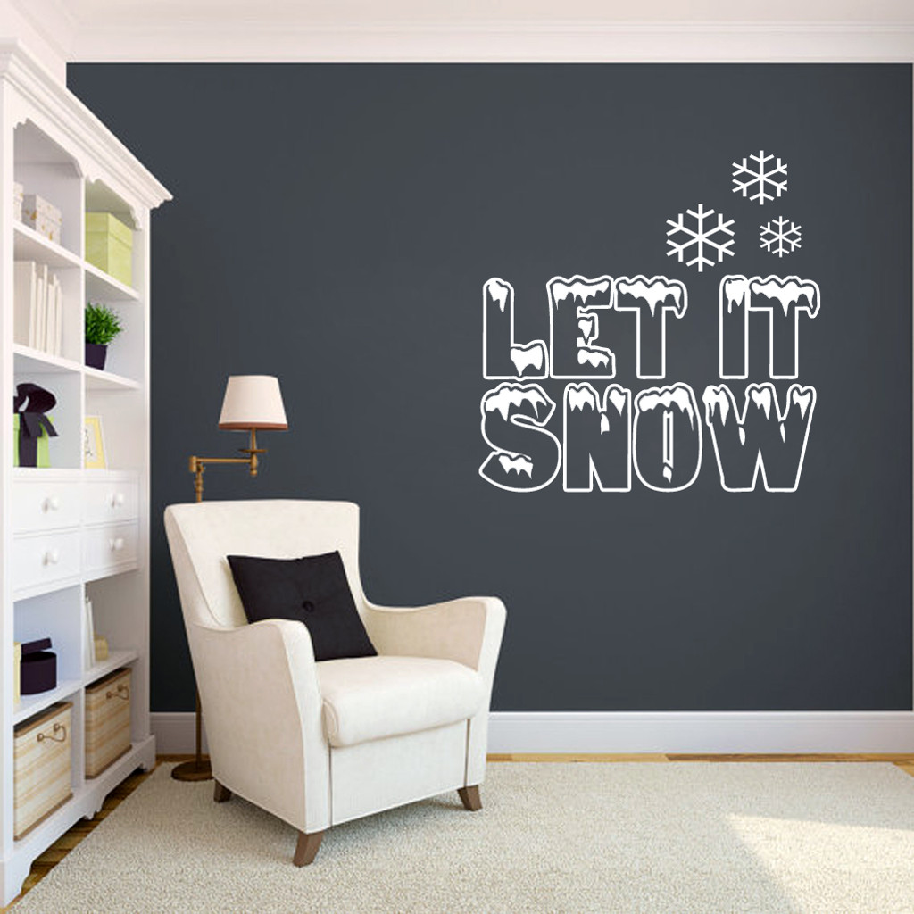 Let It Snow Wall Decals and Wall Stickers