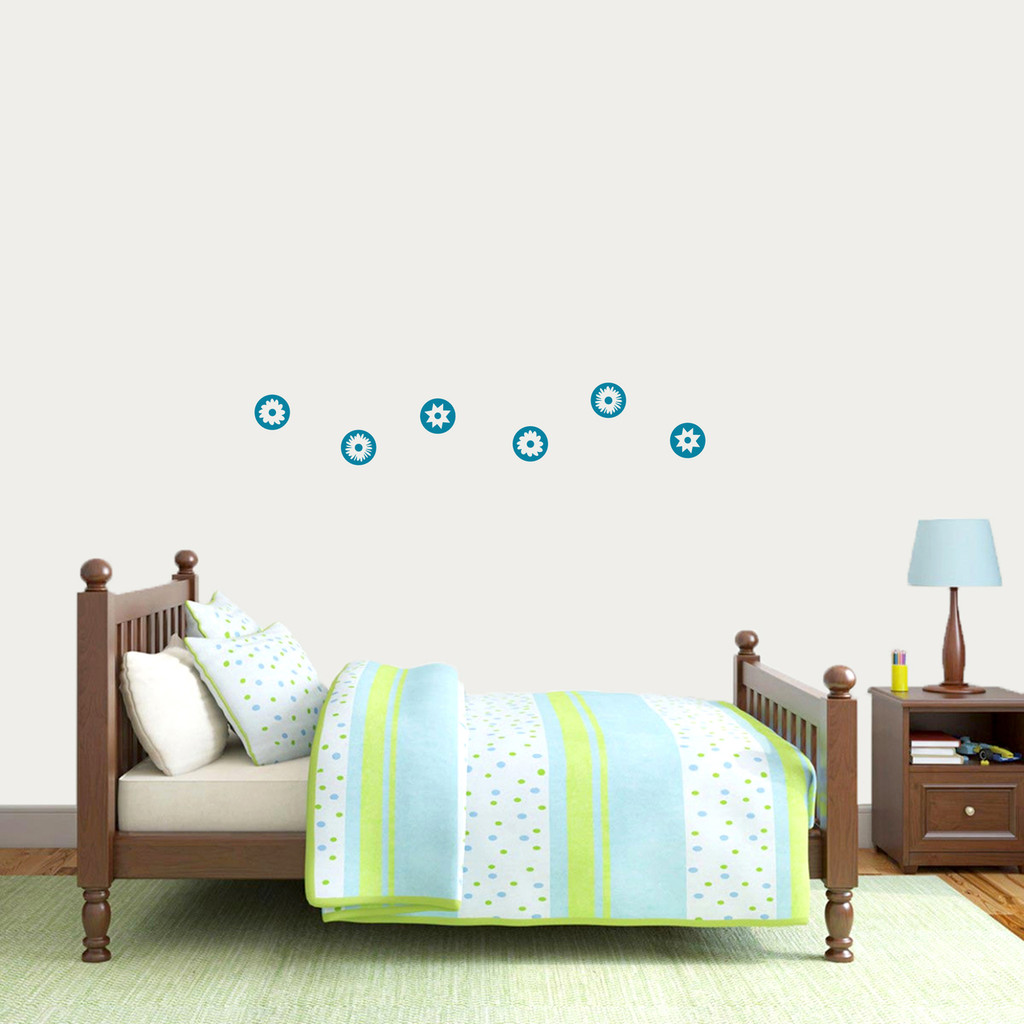 Circle Flowers Wall Decal Small Sample Image