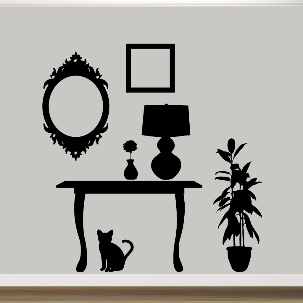 Furniture Silhouettes Wall Decals Wall Decor Stickers for Wall Sticker Tree Silhouette  29jwn
