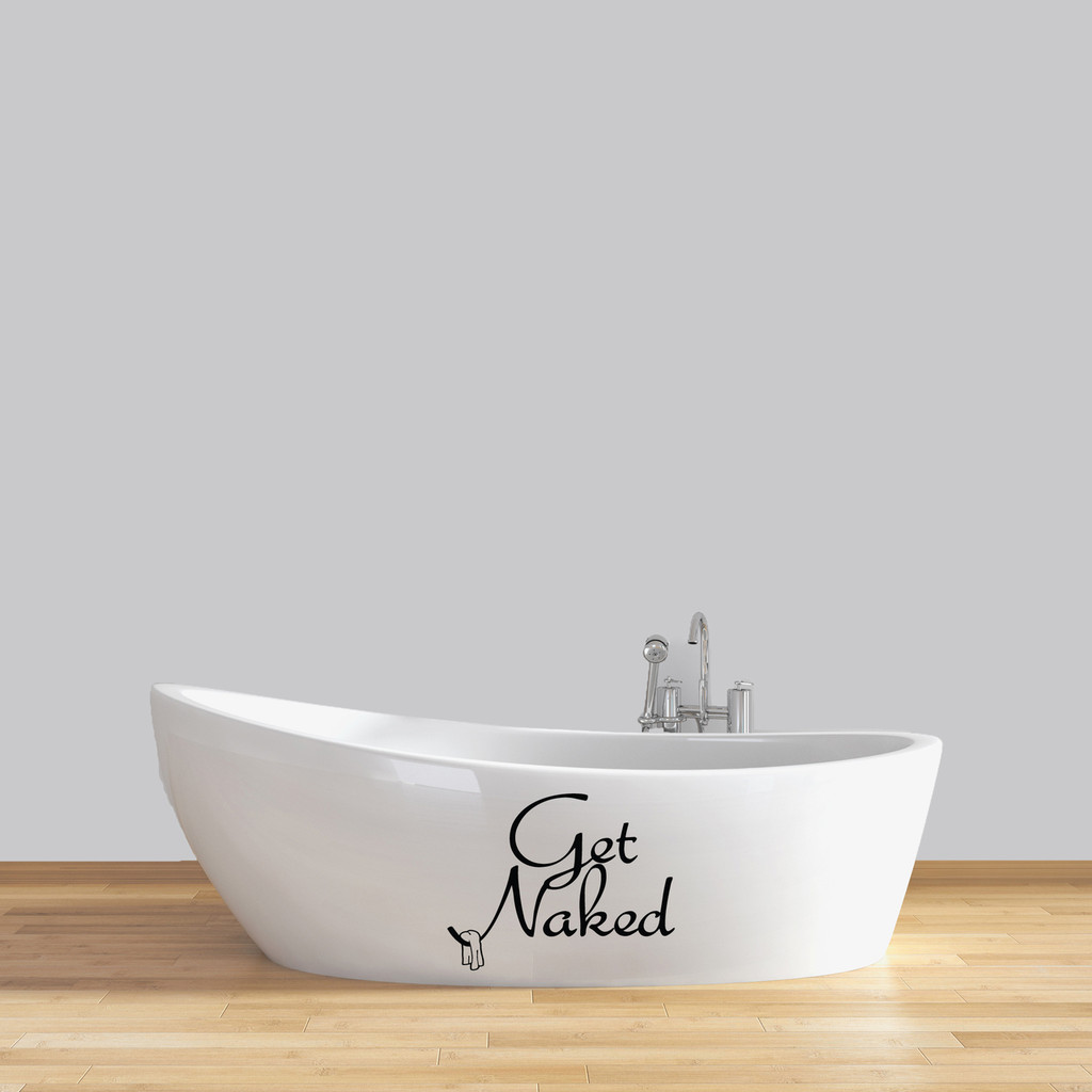"Get Naked Wall Decals 18"" wide x 14"" tall Sample Image"