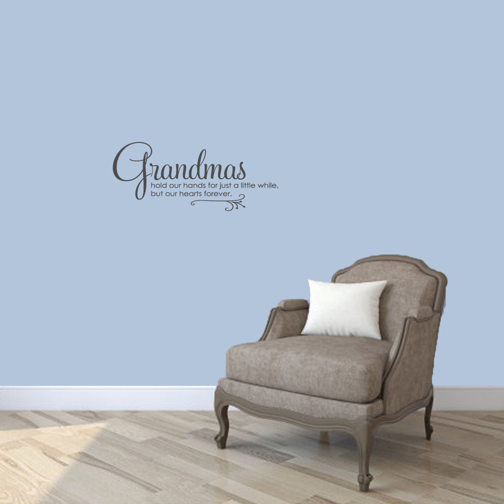"Grandmas Wall Decals 24"" wide x 10"" tall Sample Image"