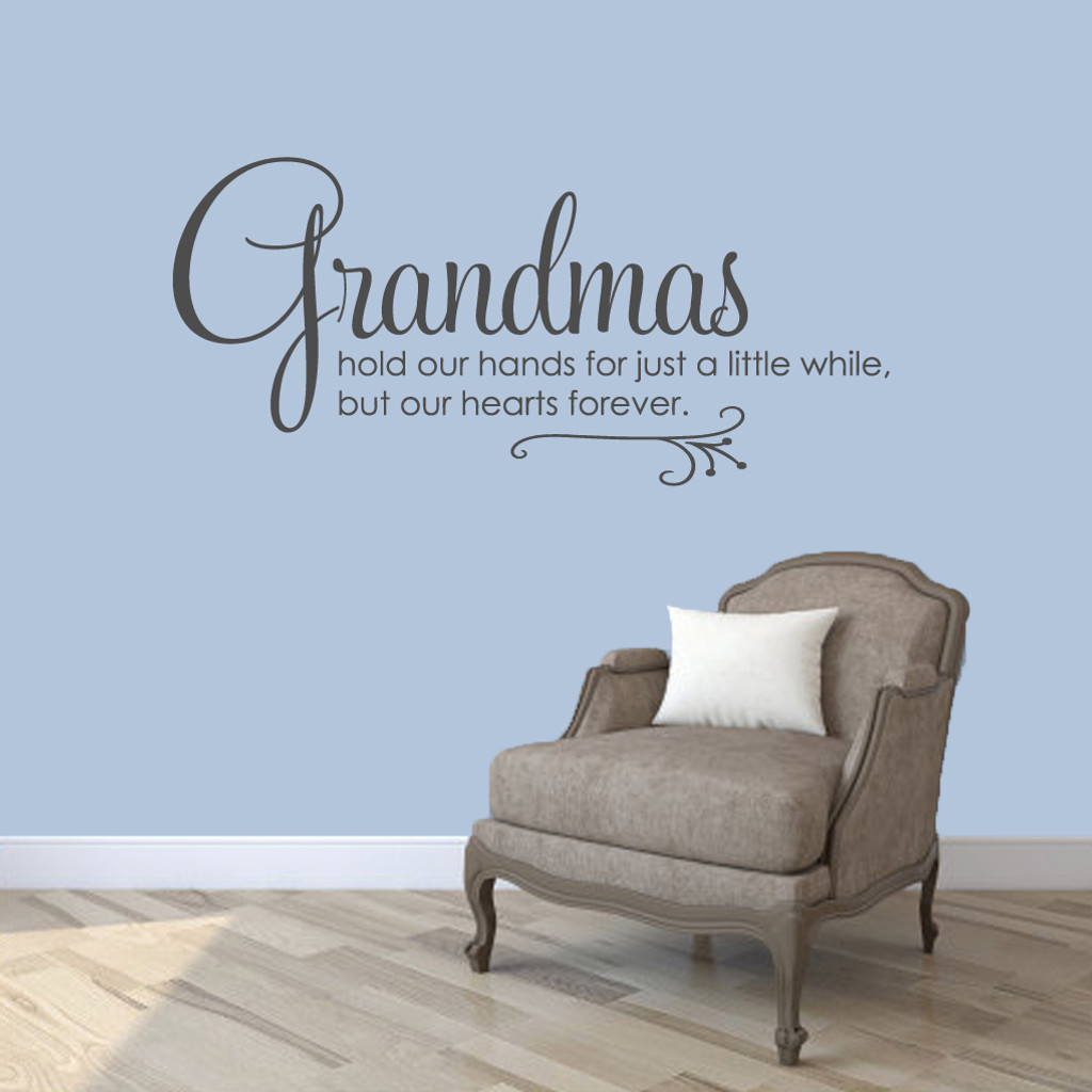 "Grandmas Wall Decals 48"" wide x 22"" tall Sample Image"