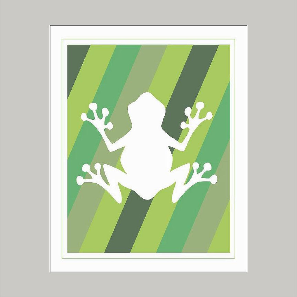 Green Frog Design - Art Print Wall Art and Wall Decal Prints