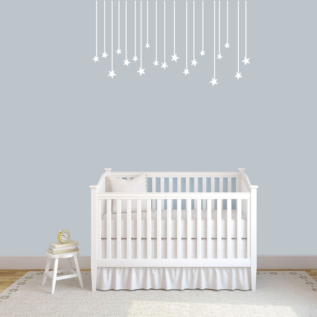 """Hanging Stars Wall Decals 48"""" wide x 26"""" tall Sample Image"""
