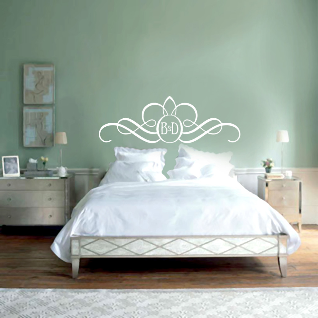 Ordinaire Headboard Monogram Wall Decals And Stickers