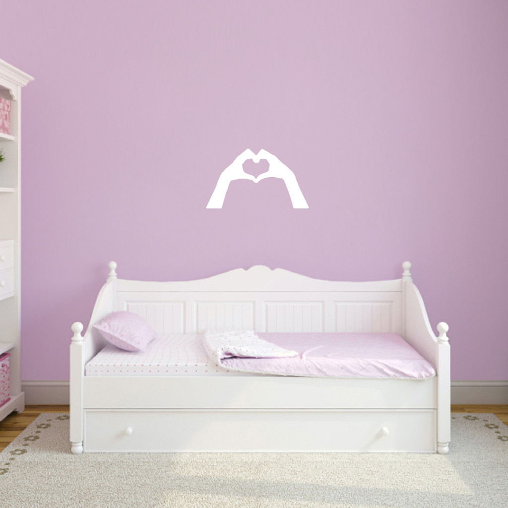 "Heart Hands Wall Decals 24"" wide x 14"" tall Sample Image"