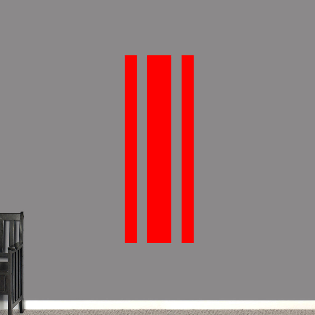 "Sport Stripe Wall Decals 22"" wide x 60"" tall Sample Image"