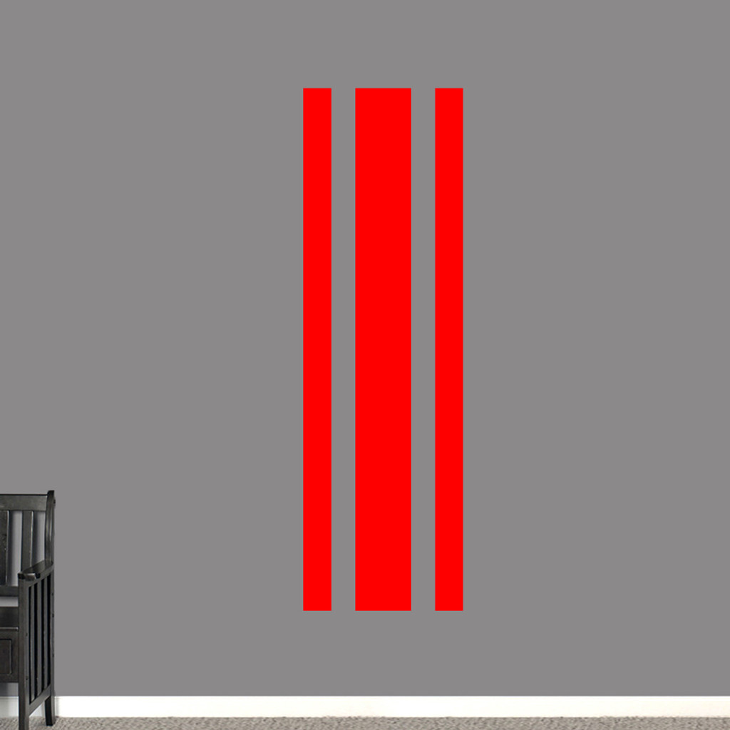 "Sport Stripe Wall Decals 22"" wide x 72"" tall Sample Image"