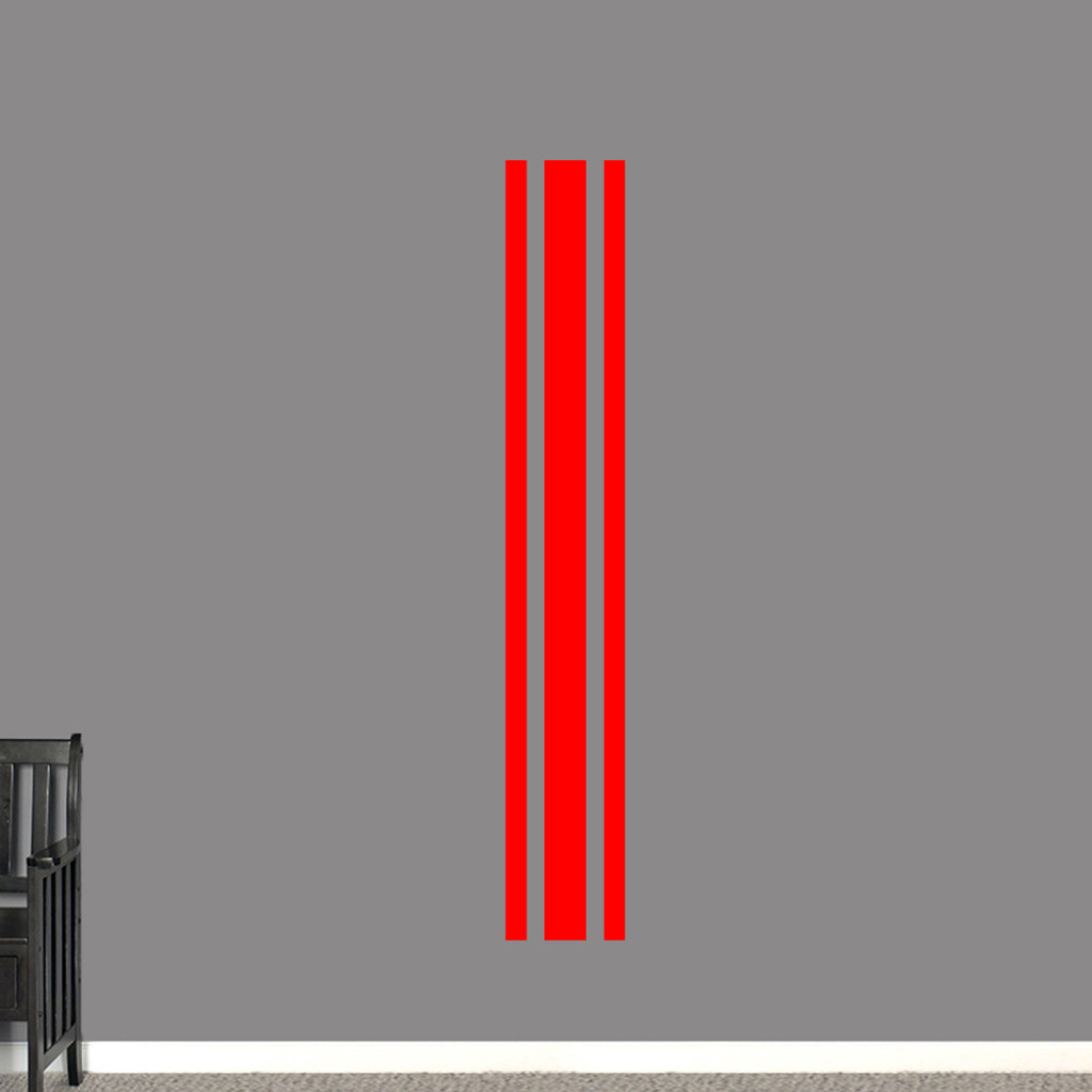 "Sport Stripe Wall Decals 11"" wide x 72"" tall Sample Image"