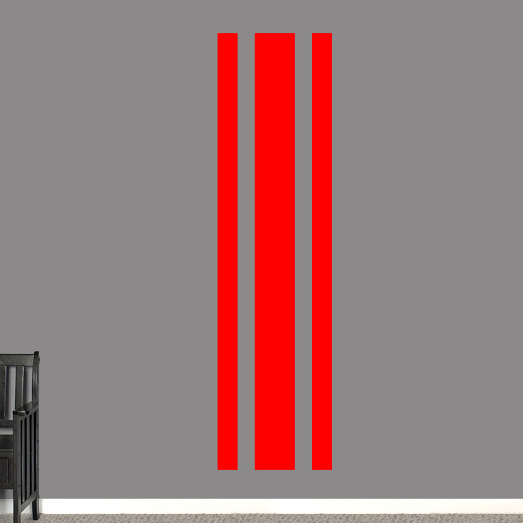"Sport Stripe Wall Decals 22"" wide x 84"" tall Sample Image"