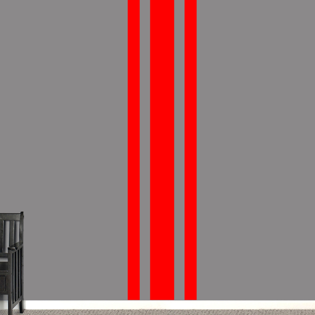 "Sport Stripe Wall Decals 22"" wide x 96"" tall Sample Image"