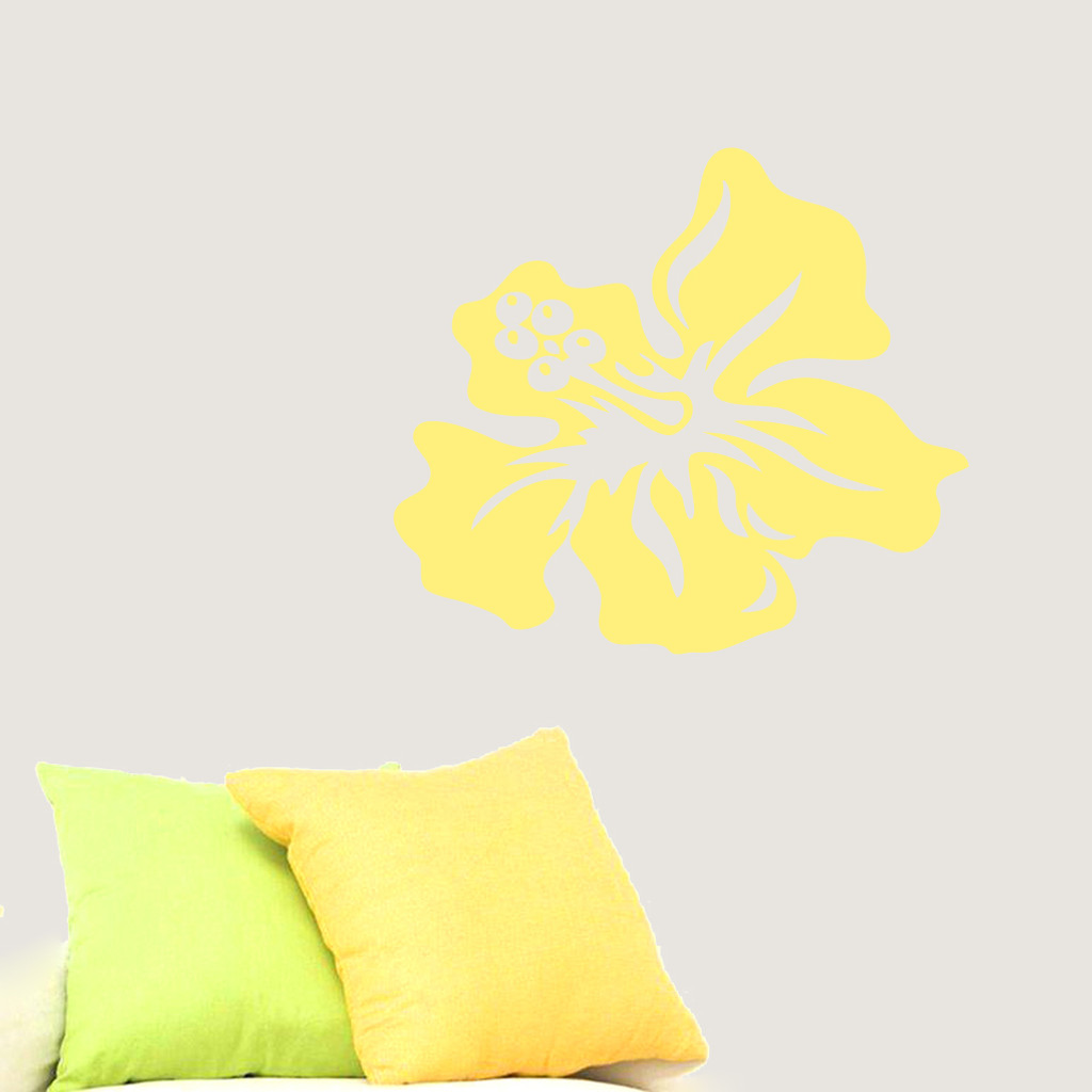 Hibiscus flower wall decals wall decor stickers hibiscus flower wall decals and stickers izmirmasajfo