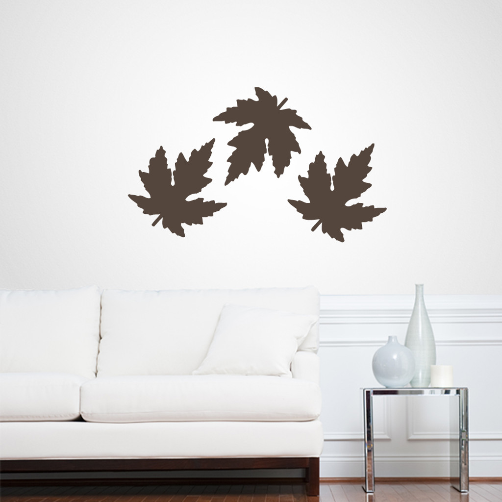 Set of Leaves Wall Decals and Stickers