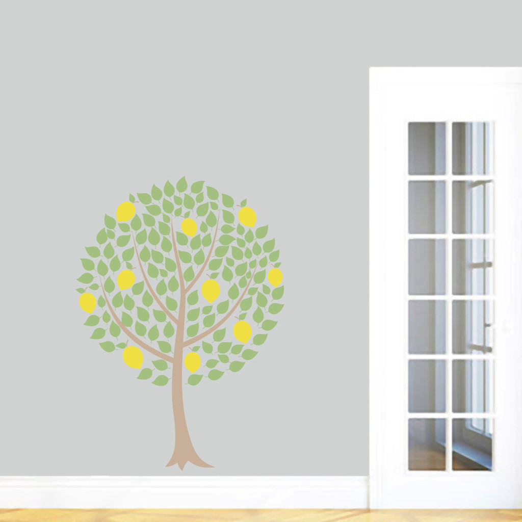 "Lemon Tree Printed Wall Decals 34"" wide x 48"" tall Sample Image"