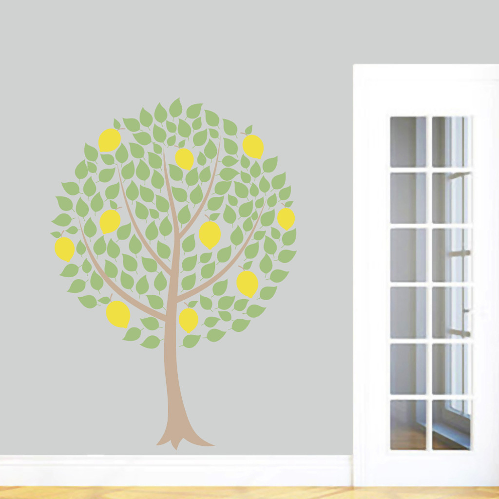 "Lemon Tree Printed Wall Decals 42"" wide x 60"" tall Sample Image"