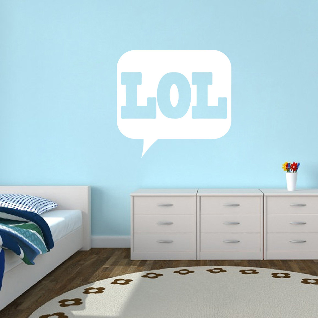 "LOL Wall Decals 36"" wide x 34"" tall Sample Image"