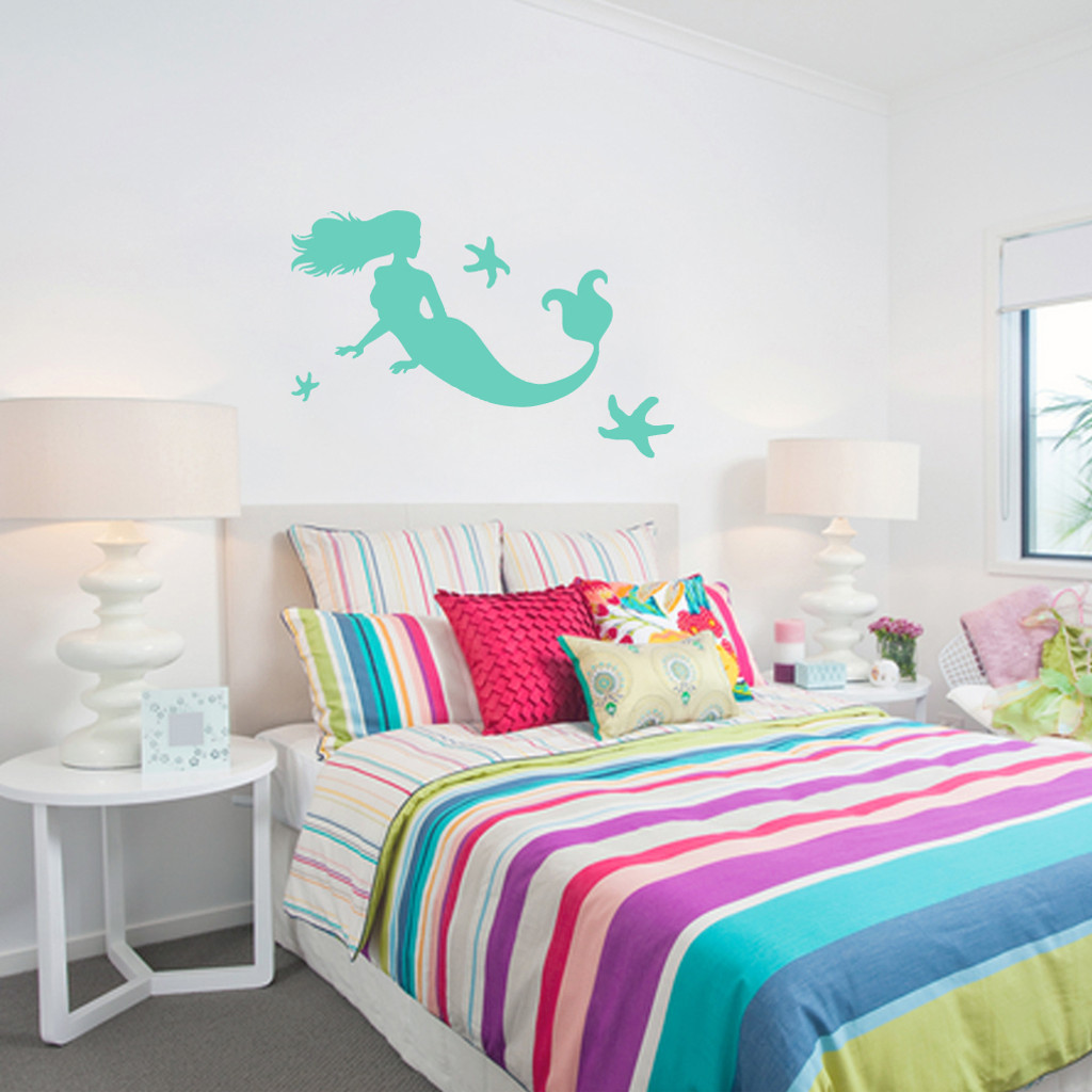 Mermaid and Starfish Wall Decals and Stickers