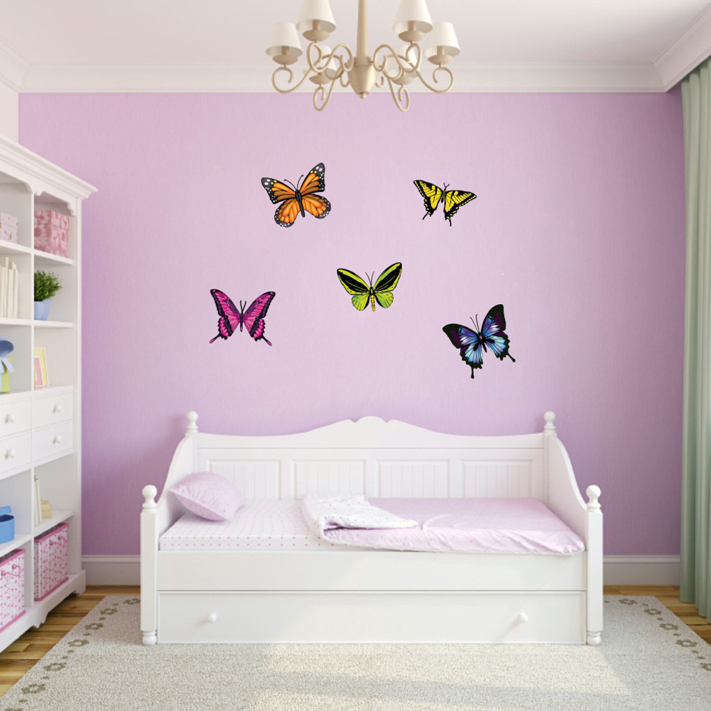 Butterflies Printed Wall Decals Small Sample Image