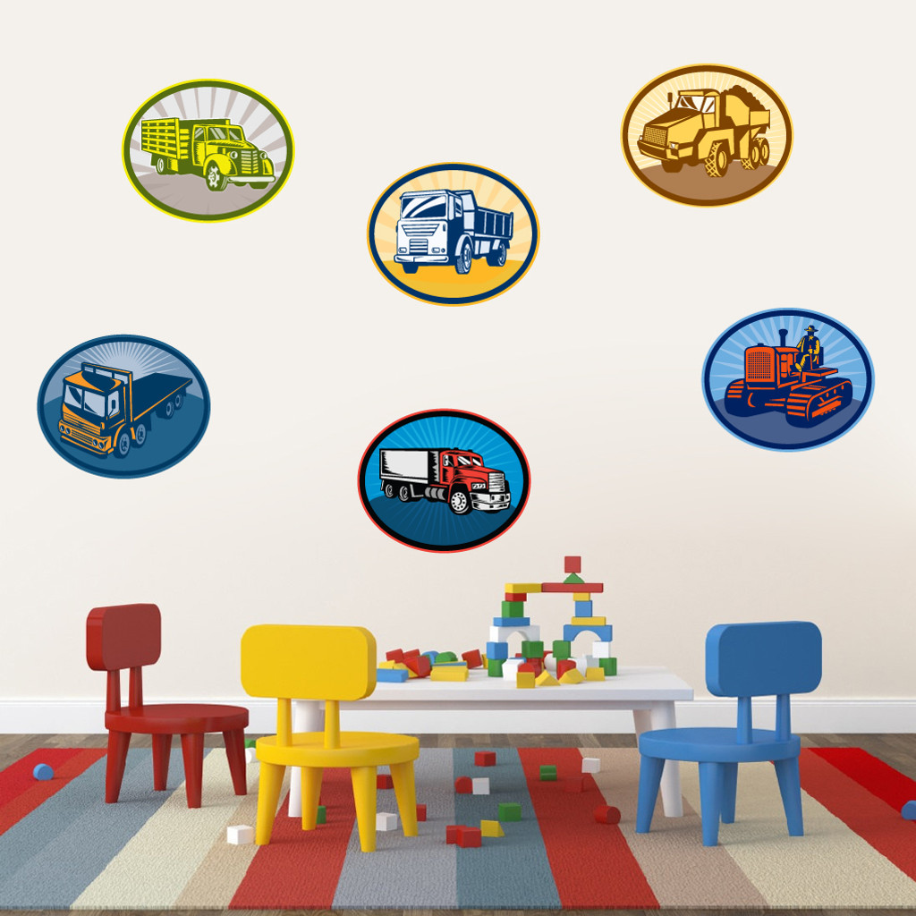 Trucks Printed Wall Decals Large Sample Image