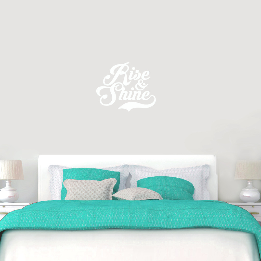 """Rise And Shine Wall Decals 24"""" wide x 20"""" tall Sample Image"""