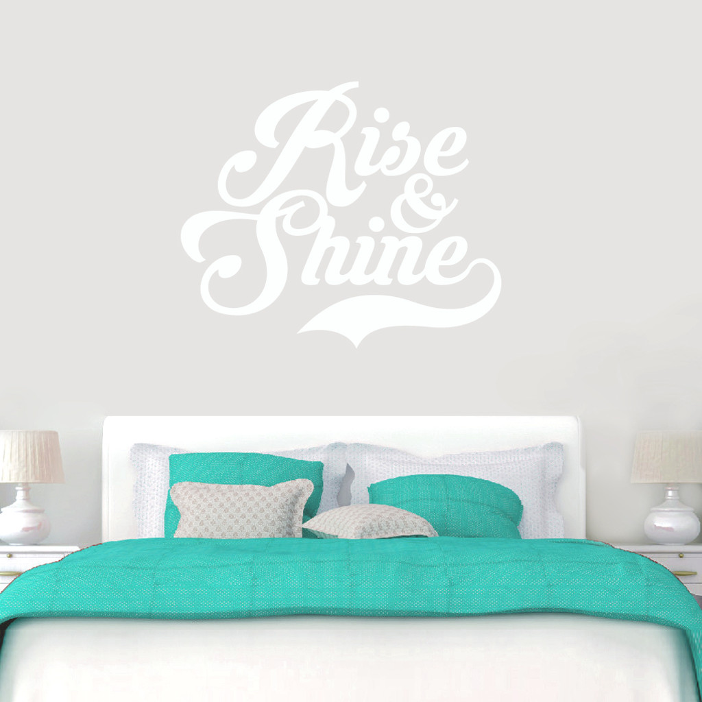 """Rise And Shine Wall Decals 48"""" wide x 40"""" tall Sample Image"""