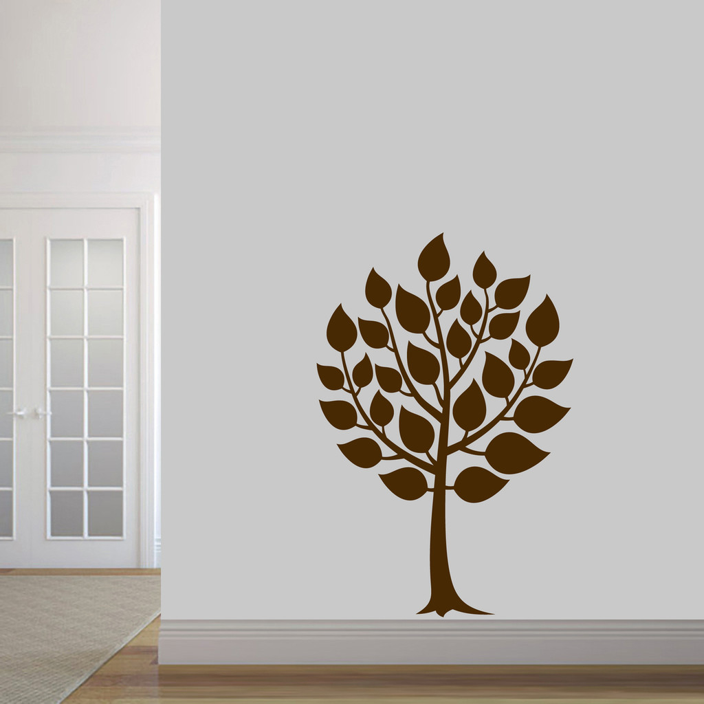 "Round Tree Wall Decal 32"" wide x 48"" tall Sample Image"