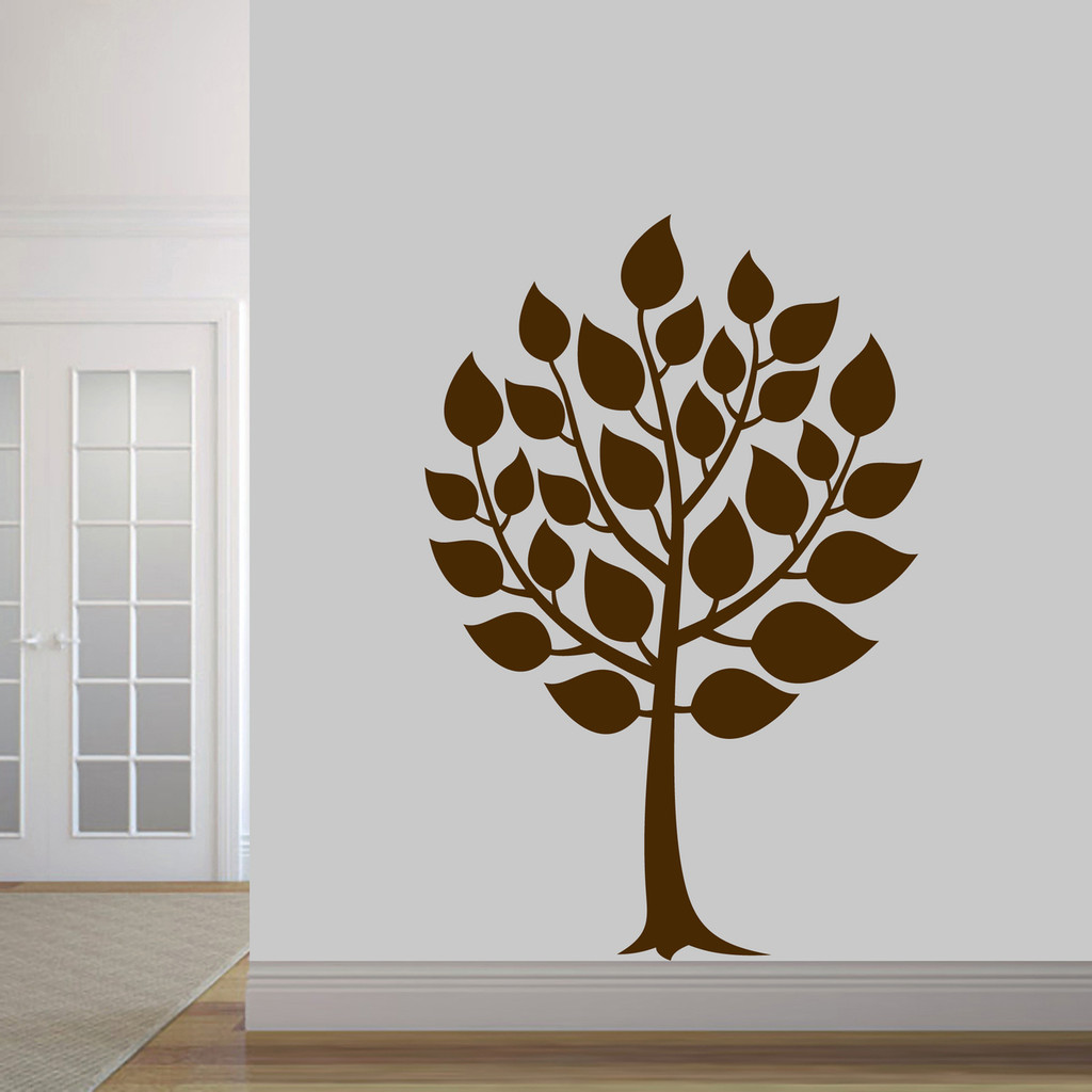 """Round Tree Wall Decal 40"""" wide x 60"""" tall Sample Image"""