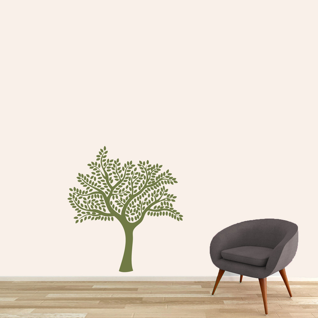 "Shade Tree Wall Decal 33"" wide x 36"" tall Sample Image"
