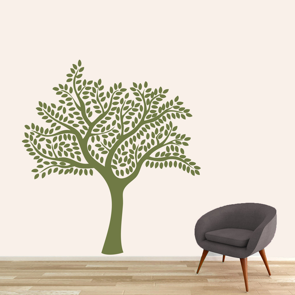 "Shade Tree Wall Decal 55"" wide x 60"" tall Sample Image"